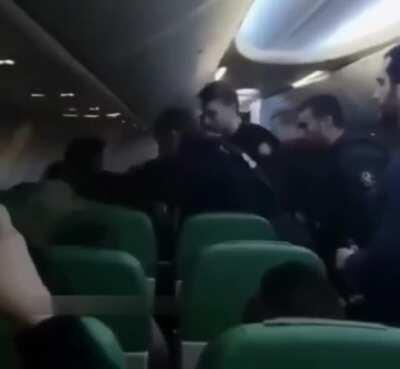 On a Air France flight, the Steward asked the Muslim man to stop praying to God in the middle of the aisle as the other passengers were getting very nervous. They were forced to land and remove him.