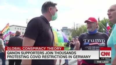 CNN über Corona-Demo in Berlin