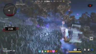 First time post. Speedrunners of zombies, i dont know if im the first to discover this. But in outbreak, you can get out of one of the holdout locations. This allowed me to go and launch the dragon while in the dark either. Dont know how useful this is bu