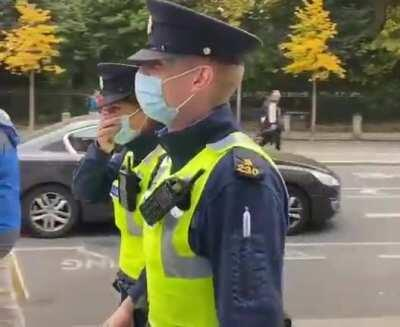 Irish policewoman gets spooked by plant