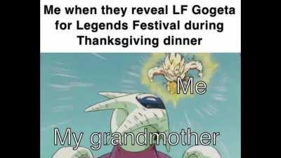 Whether monkey hair or blue hair, it will be very hype and lethal this Thanksgiving dinner. Thank you, Bandai