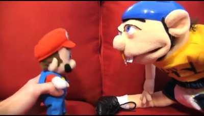 Jeffy SCREAMS At Mario!
