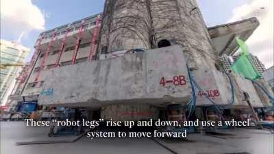 85-year-old primary school in Shanghai has been lifted off the ground — in its entirety — and relocated using new technology dubbed the