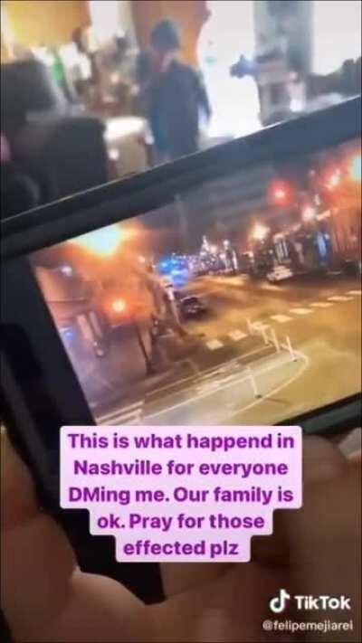 Video claiming to show another angle of the Nashville explosion