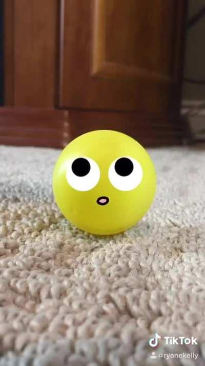 Trick shots in the eyes of the ping pong balls