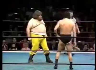 Wrestler refuses to sell his moves during a staged match. Opponent literally flips the script on him. (Commentary by Bill Burr.)