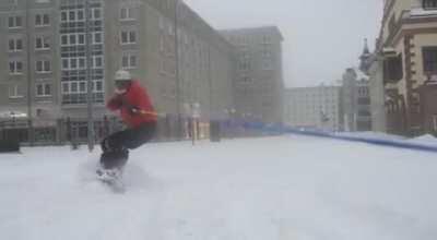 Schnee in Leipzig.