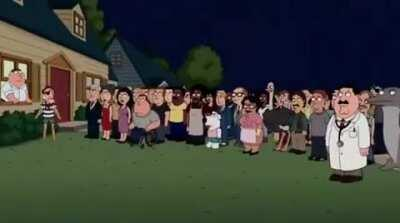 Endgame told by Family Guy