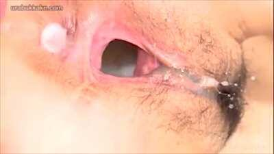 Japanese Cum Dumpster Opens Her Pussy For All To Cum Inside
