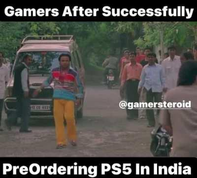 Indian Gamers After Successfully Pre Ordering PS5 In India During The Peak Time Post 12pm