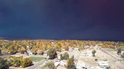 Cameron Peak fire from Loveland, CO
