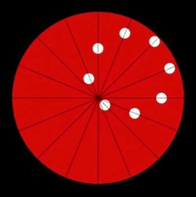 Each ball is moving in a straight line