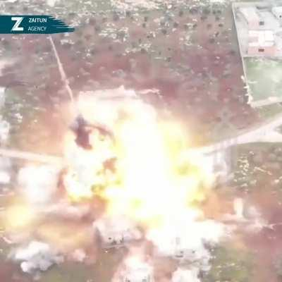 VBIED drive and explode in a regime camp.