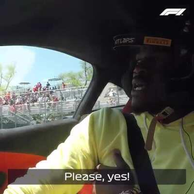 Miami Heat's Jimmy Butler Takes A Short Ride With Formula One's Lando Norris.
