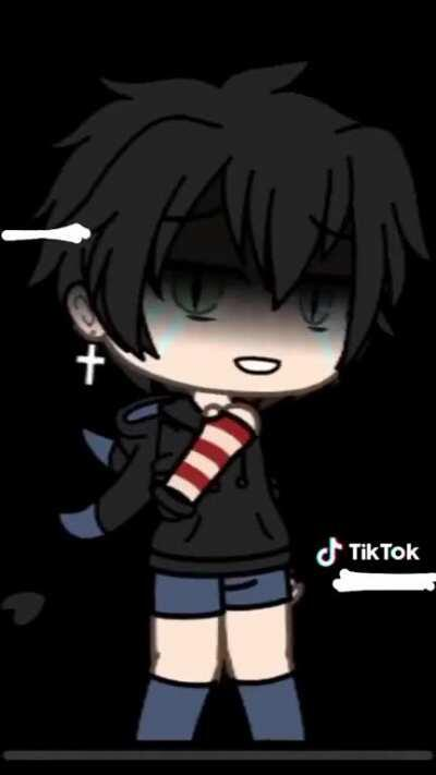 Edgy emo boy with red bracelets goes sicko mode 🙀🙀