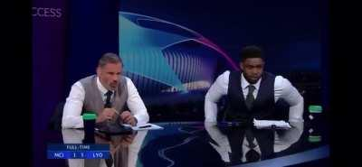 Jamie Carragher's reaction to Sterling's miss