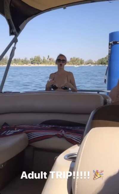 Milfs on an adult boat trip