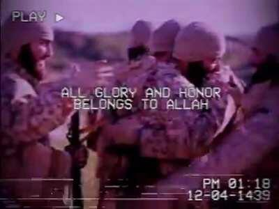 Fantastic Vaporwave Inspired Edit of Various Islamic State clips, featuring Vaporwave remix of an Ajnad Media Nasheed. (Unknown creator)