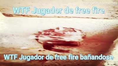 WTF Jugador de free fire bañandose