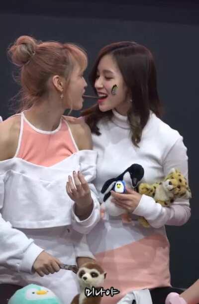 Sana almost makes Mina & Momo kiss (ft. Dahyun)