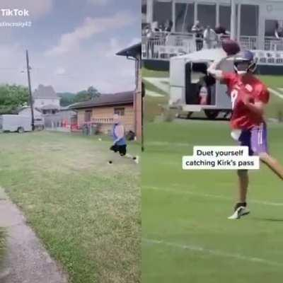 Catch it from Cousins :) The Vikings started a new Tik Tok challenge asking fans to duet themselves catching passes from Kirk Cousins. The responses are fantastic..
