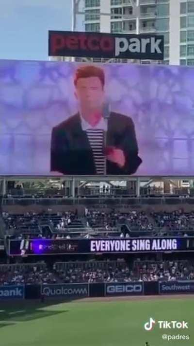 Rick Rolling an Entire Stadium