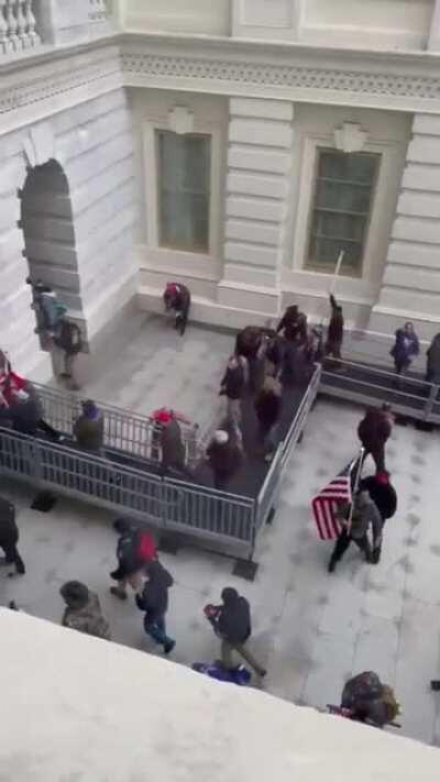 Trump's domestic terrorist lynch mob breached the Capitol