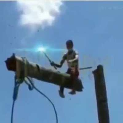 Up, phone pole!