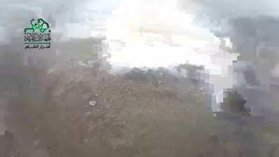 Fucking Crazy Gopro footage of Ahrar al Sham rebels overrunning a SAA position somewhere in Syria (Date And Place Unknown To Me)