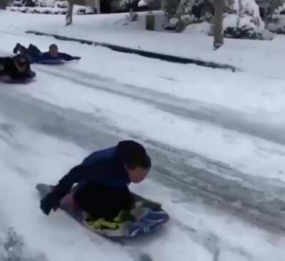 Shamelessly Stolen...A neighbor called the police to stop kids from sledding down the road