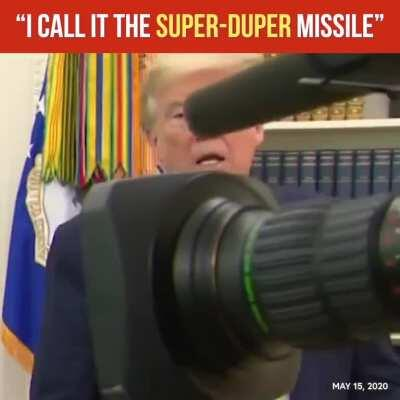 """Trump unveils Space Force flag: """"I call it the Super-Duper Missile"""""""