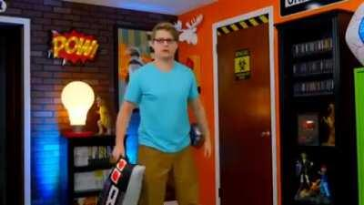Chadtronic walking into his room and starts screaming.