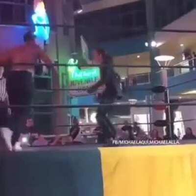 Apparently Michael Jackson isn't dead he's a wrestler in Brazil
