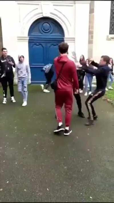 The most civil way to break up a fight