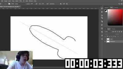 Pen*is drawing Photoshop Speedrun (00:03:900) Any % Glitchless Latest Version (PC)