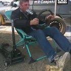 This dude imitating a rally car
