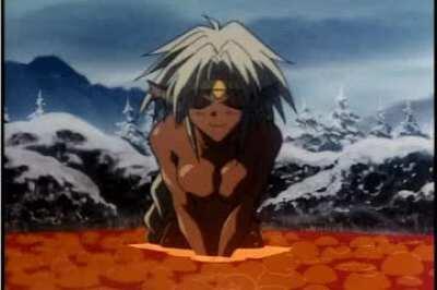 Aisha lava bath [Outlaw Star]