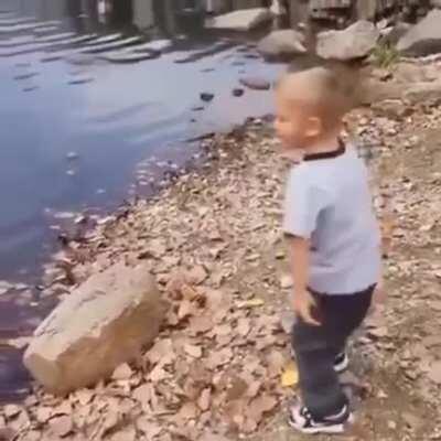 Stone Skipping Champ