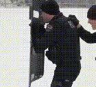 Police engage in a shootout with a local youth gang