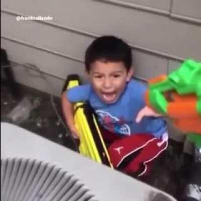 Morgan Freeman narrates the father's perspective of a NERF gun.