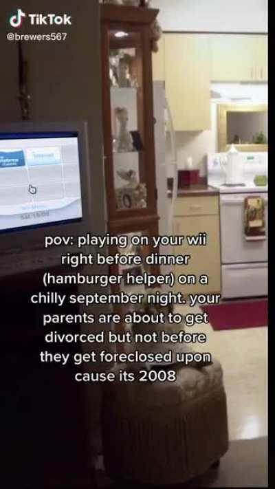 POV: you play on your wii before dinner