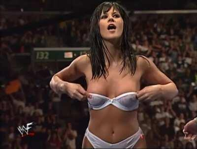 Miss Kitty Showing Her Tits To The Wwf Audience