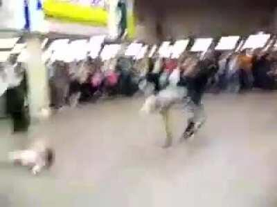 WCGW running into the performer