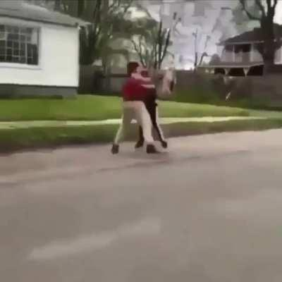 If you're not that good at fighting, why are you fighting a kid 20-30+ lbs heavier then you?