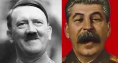 This is as frightening as it is progressive in technical terms.... Hitler and Stalin having a great time