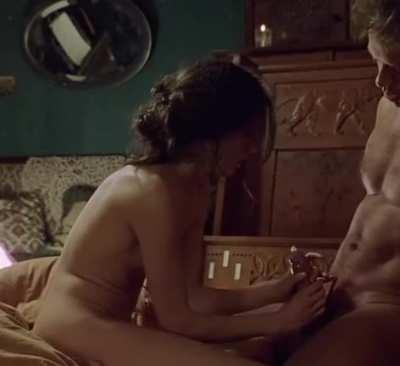 Caroline Ducey - Applying the condom in 'Romance'