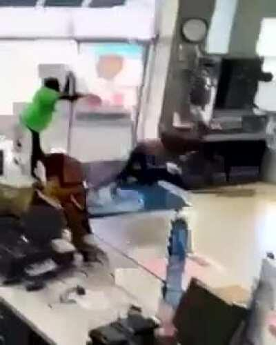 Flashing the entire store after being caught stealing