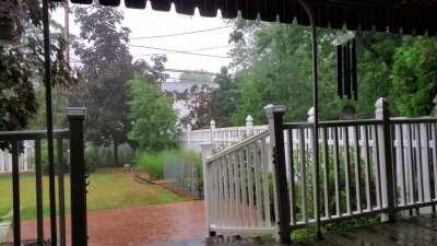 Rain from the back deck.