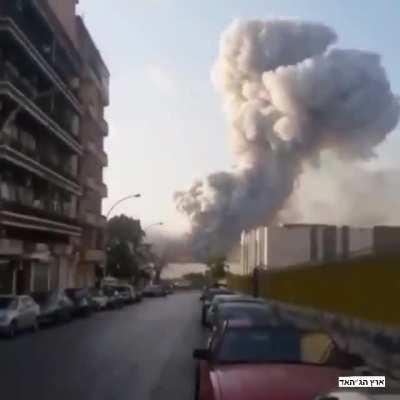 The most insane angle I could find of the recent catastrophe in Lebanon