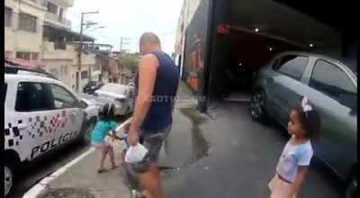 Brazilian Police Officer Shoots a Man For Brandishing a Knife